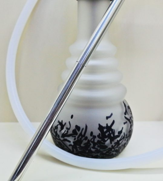 BT221 Siyah-Beyaz Mat Desenli Nargile Takımı ( 6 Patlar Serisi )